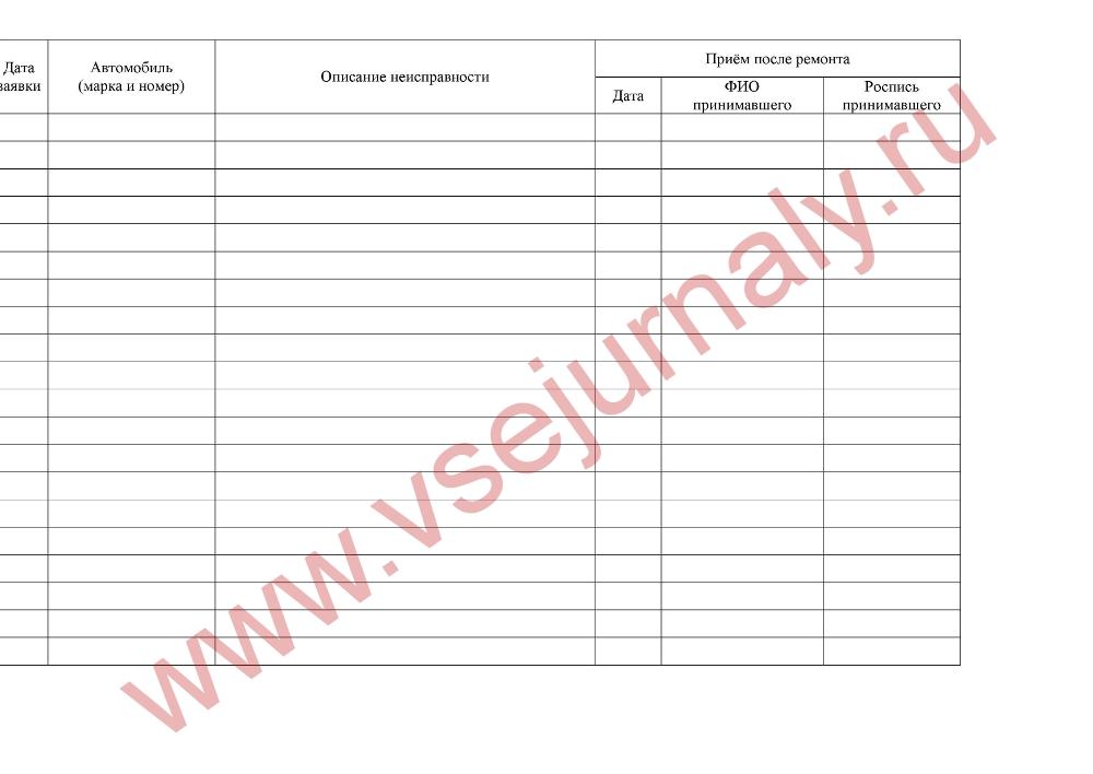 Заявка На Ремонт Автомобиля Бланк - resurschrome